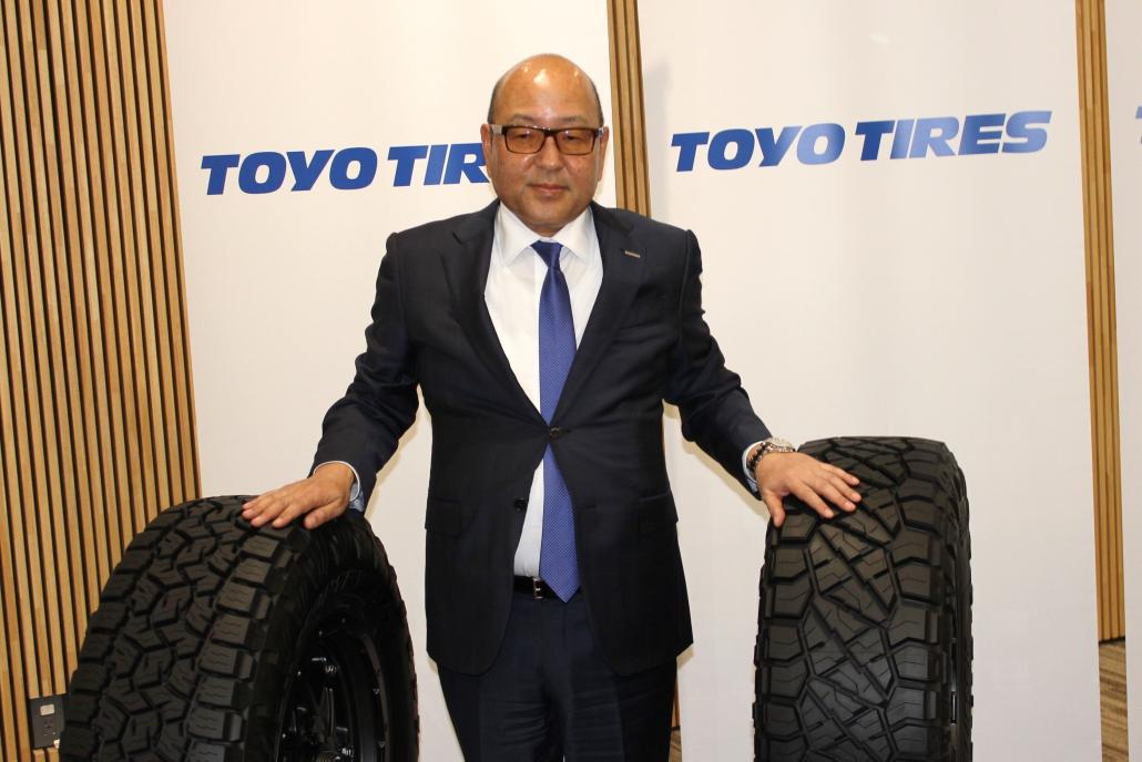 大型タイヤに期待を込める清水社長