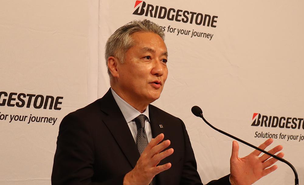 説明を行う石橋CEO