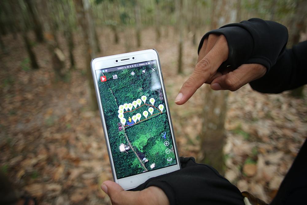GPSでマッピングされた生産エリア