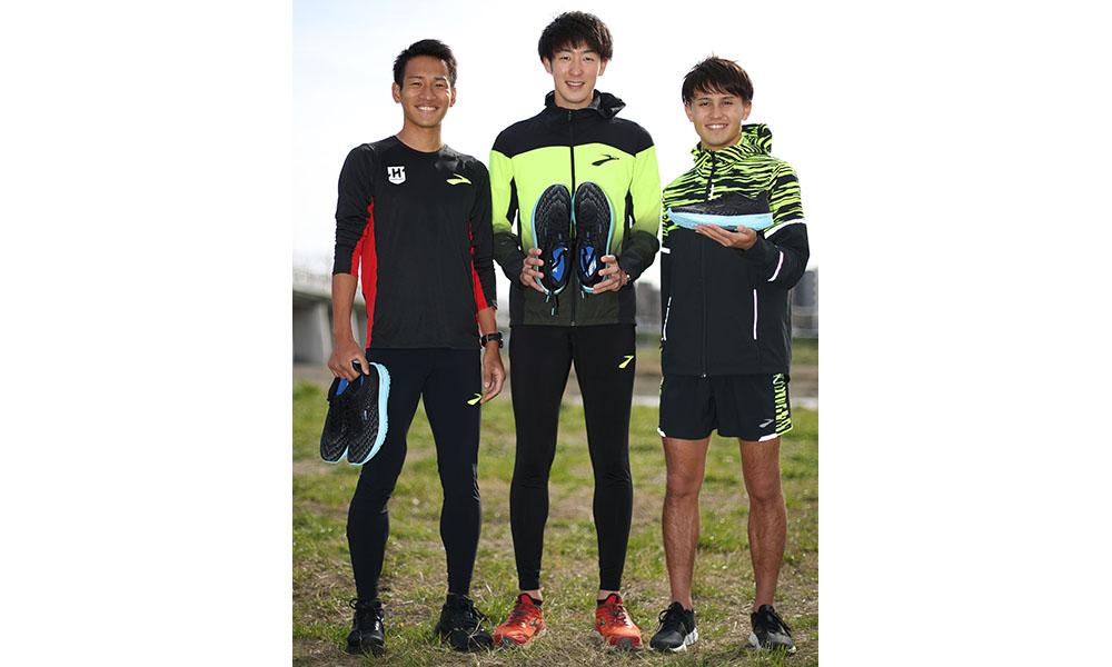 阿見ACシャークスの3選手。㊧から楠氏、飯島氏、田母神氏