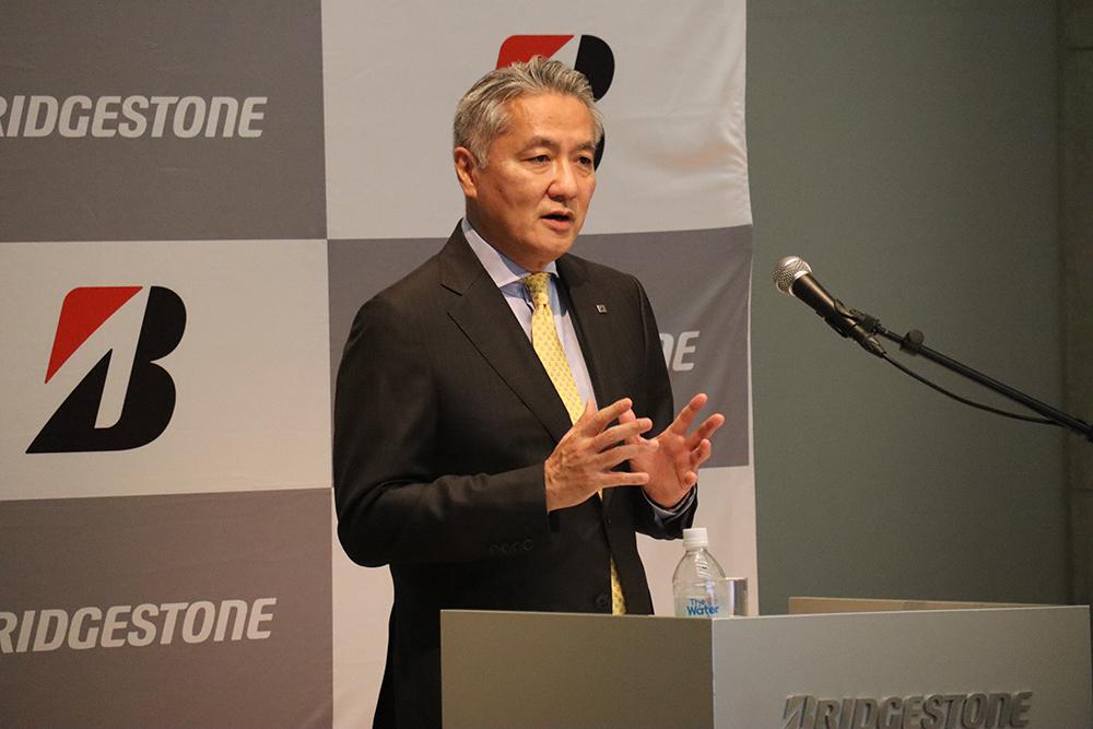 あいさつを行う石橋CEO