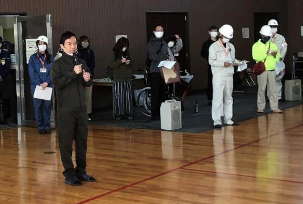 南出泉大津市長の開会のあいさつ
