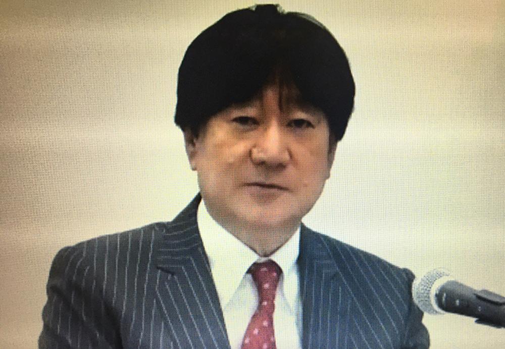 質問に答える川橋社長