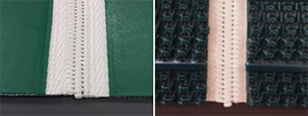 左:表面平滑タイプ 右:表面R8絞形状