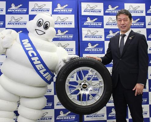 「ミシュランeプライマシー」と須藤社長、ビバンダム