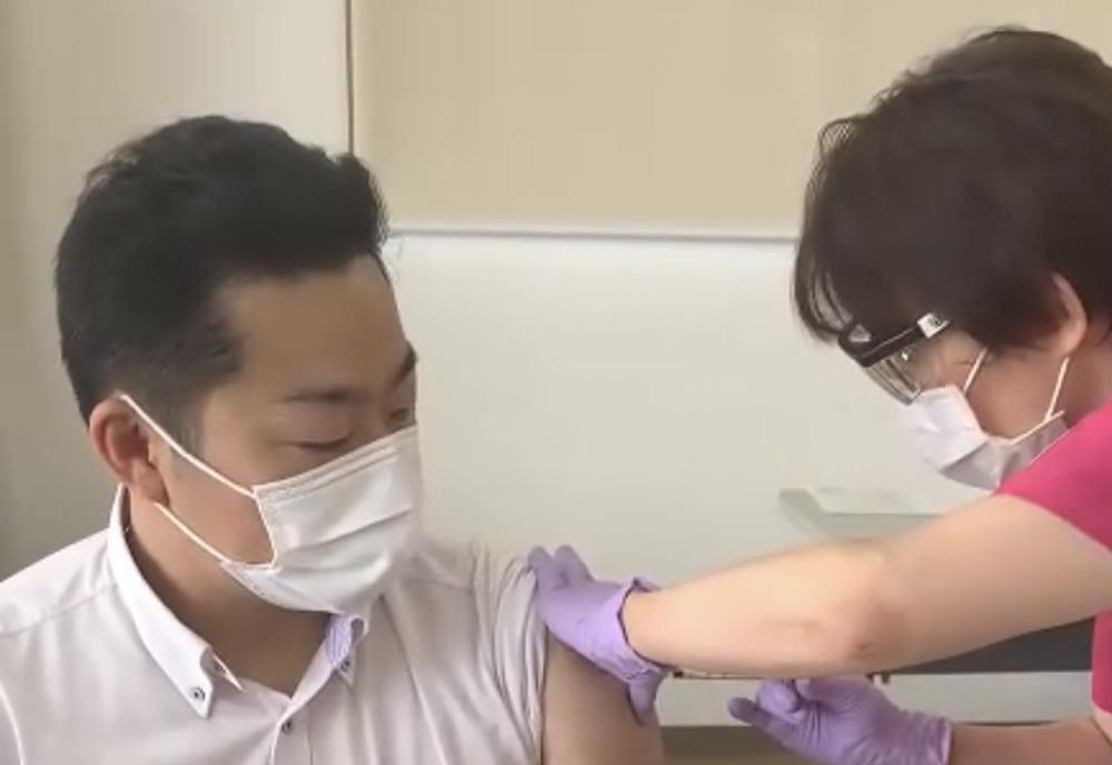 接種の様子
